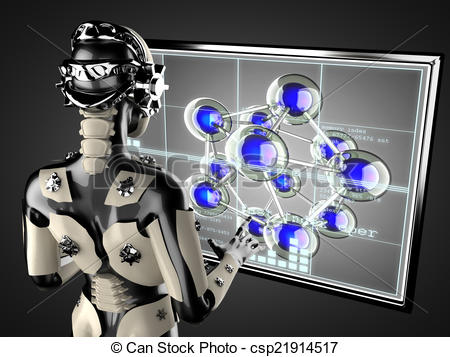Hologram clipart engineering design Robot woman robot cyborg