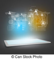 Hologram clipart engineering design Marketing Tablet Network Art 402