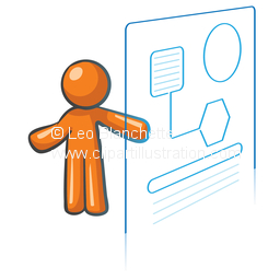 Hologram clipart Of Orange of ClipArt Man