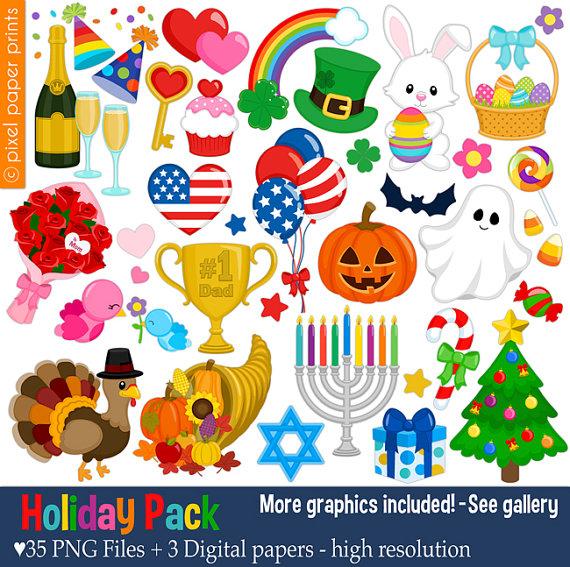 Holydays clipart pencil Clipart Holiday Clip Holiday set
