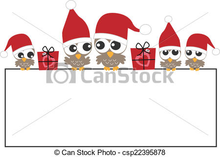 Holydays clipart banner Csp22395878 Merry Christmas happy Illustrations