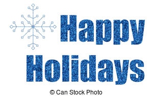 Holydays clipart blue Downloads snowflake happy  holidays