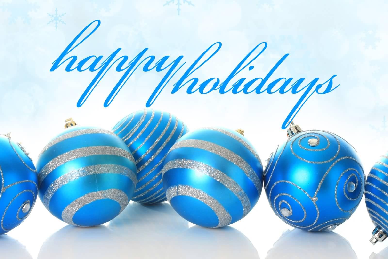 Holydays clipart blue Happy Christmas Holidays Christmas Clipart