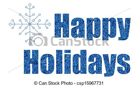 Holydays clipart blue  Drawings glitter holidays of