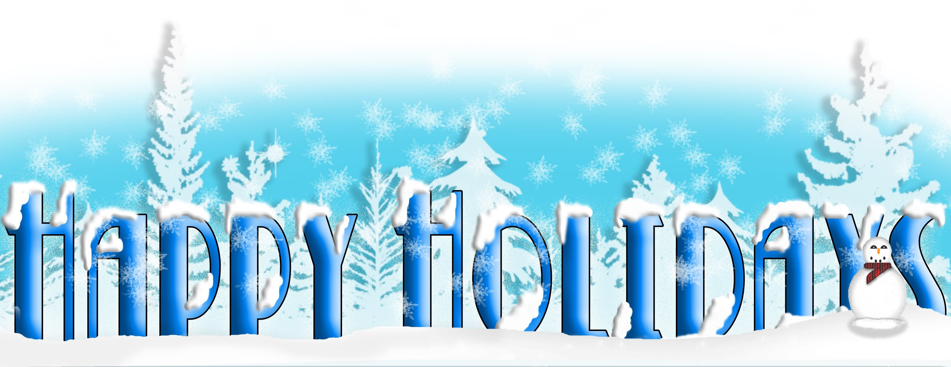 Holydays clipart blue Banner Graphic Happy  Blue