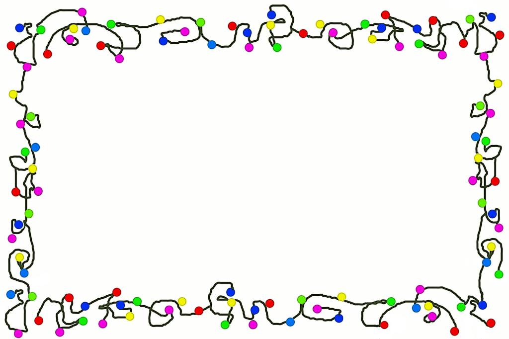 Holydays clipart christmas light garland Image 3 art borders
