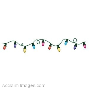 Lights clipart christmas light strand Christmas christmas art garland clip