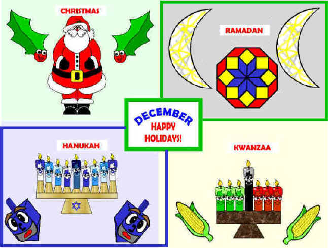 Holydays clipart december holiday Projects board december Bulletin December