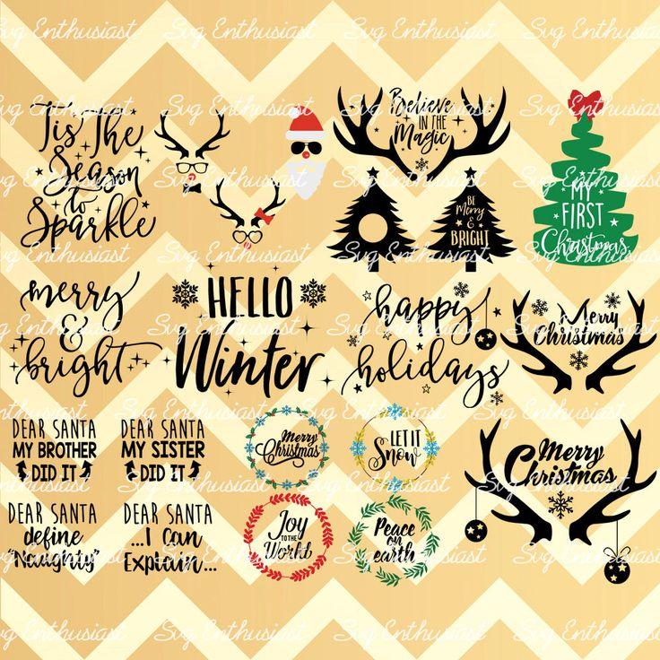 Holydays clipart deer SVG Fun Santa clip Discount