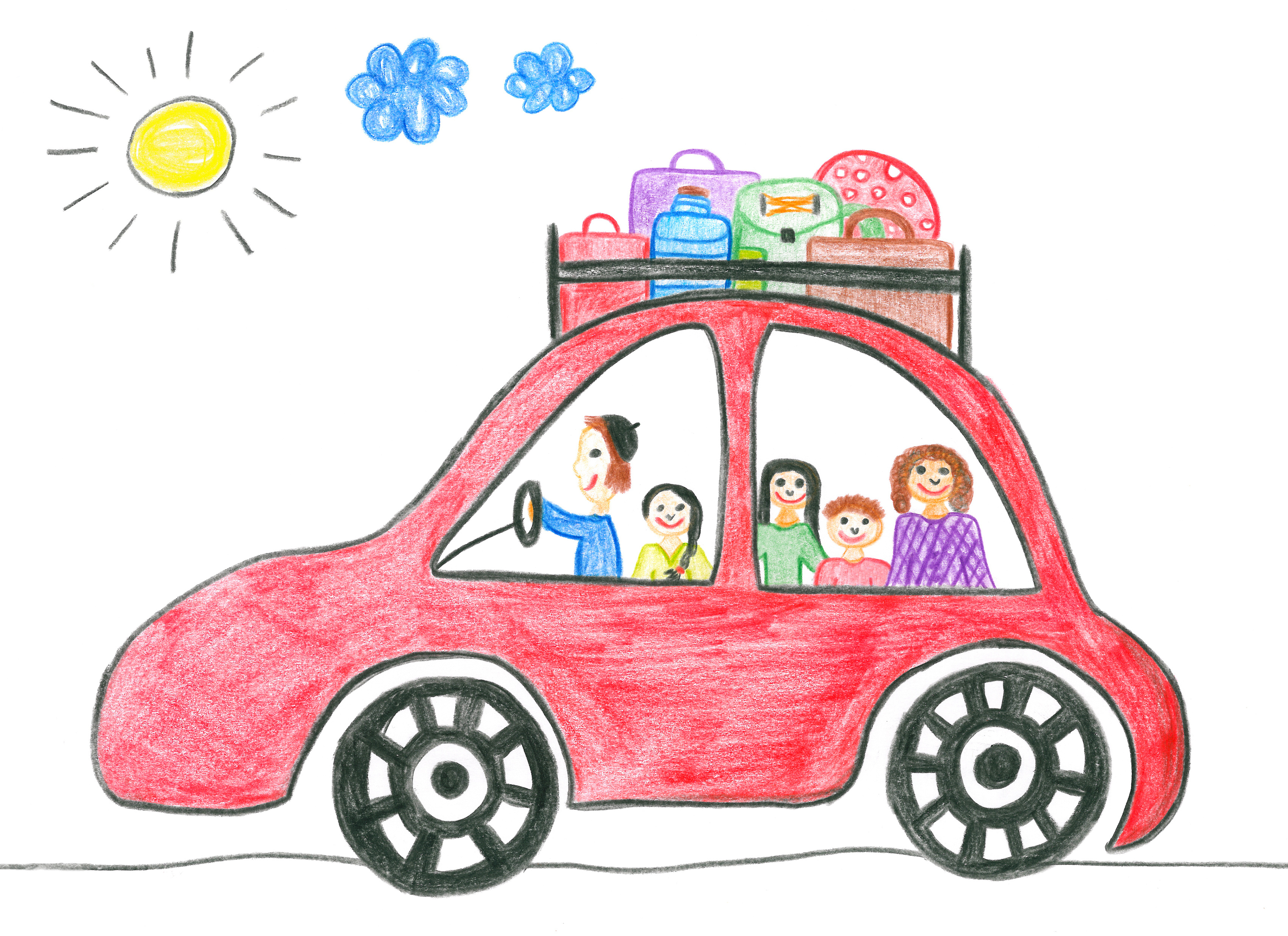 Holydays clipart family holiday  car happy Patient Kids