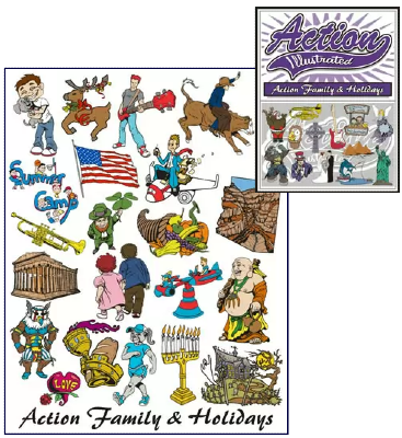 Holydays clipart family holiday Illustrated Action and Clipart Action