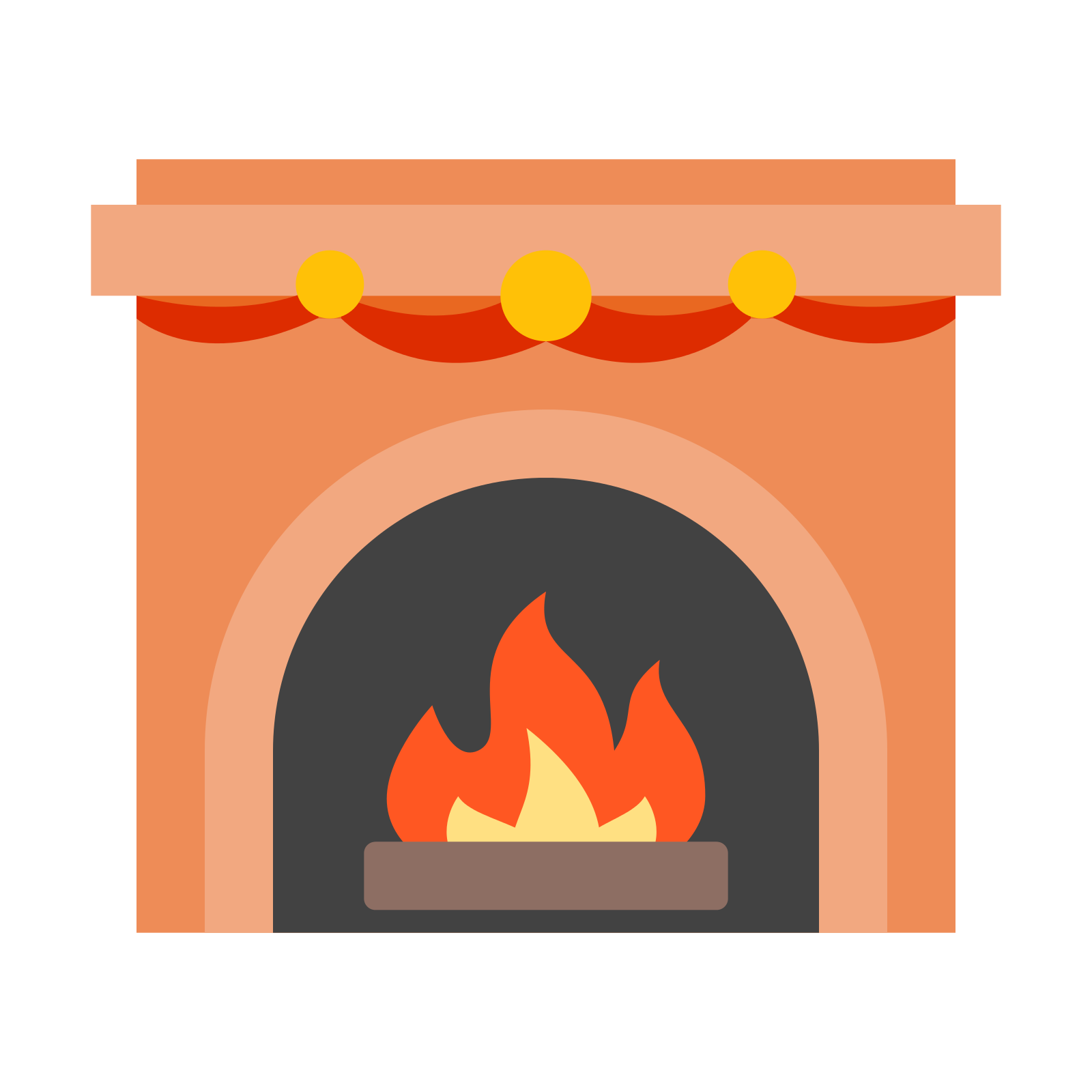Holydays clipart fireplace Icon Download Free Icon Fireplace