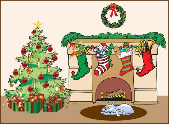 Holydays clipart fireplace Holiday Stockings The Art Christmas