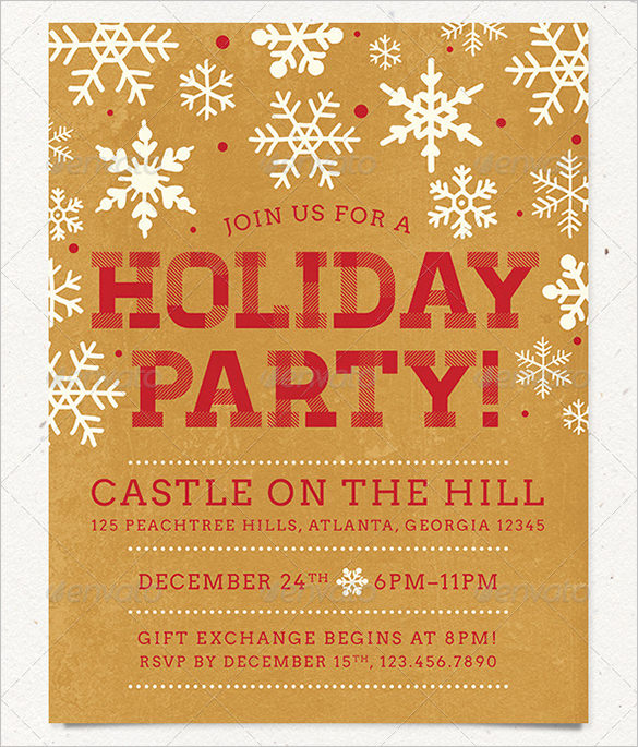 Holydays clipart flyer & holiday a Party Designs