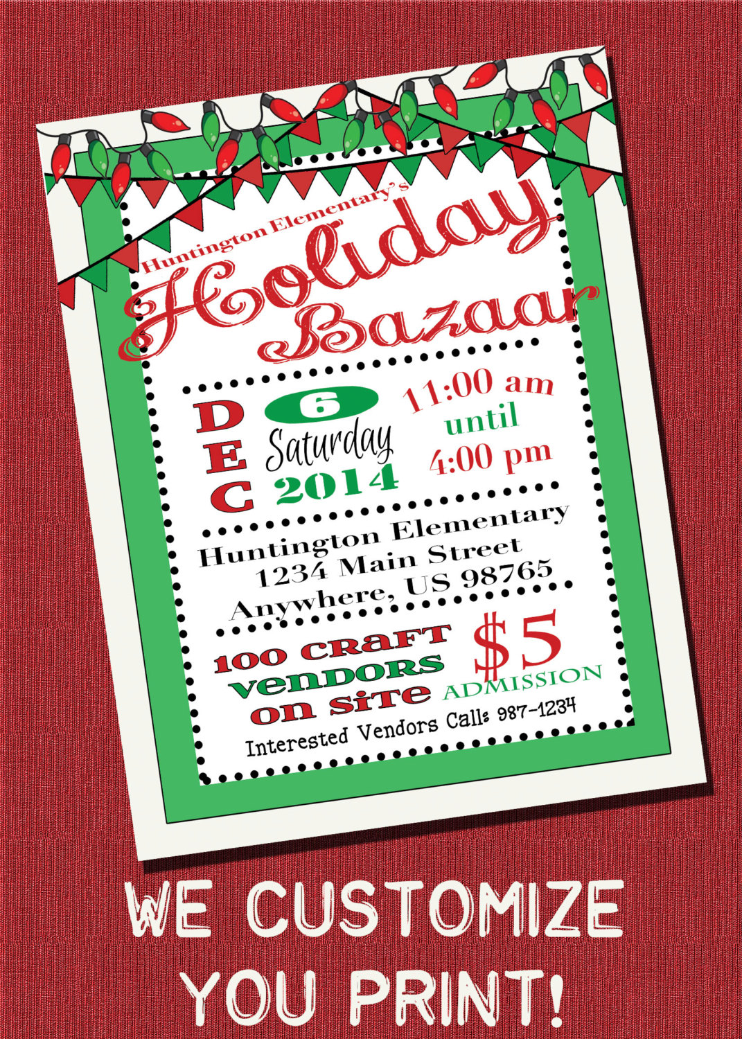 Holydays clipart flyer Holiday Flyer MagicPalette BAZAAR by