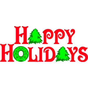 Word clipart happy holiday Clip of holiday art Happy