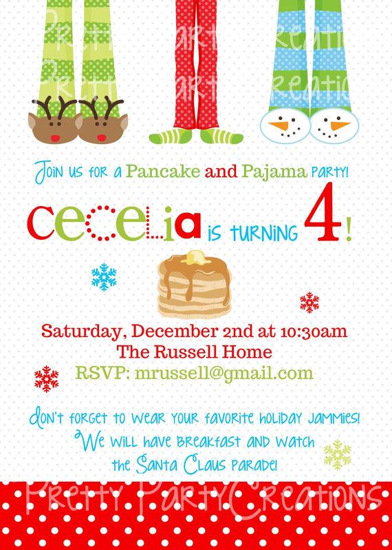 Pancake clipart pajamas And Pancakes Invitations info And