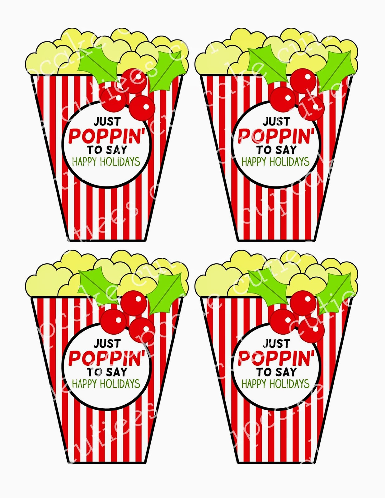 Holydays clipart popcorn Popcorn Cut Cupcake www Love