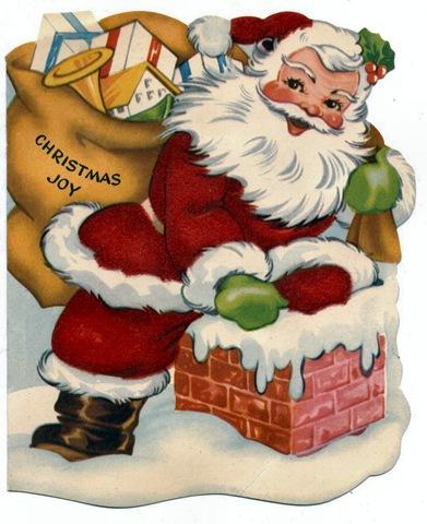 Santa clipart vintage #7