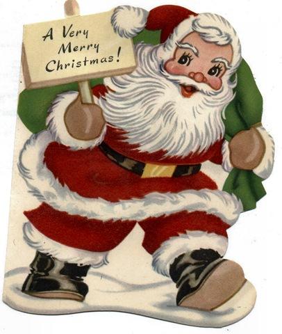 Santa clipart vintage #5