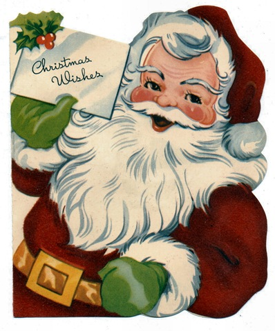Cards clipart christmas letter Letter vintage Santa Crafts Christmas