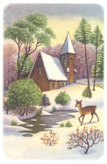 Winter clipart church scene Public Scenes Clipart Christmas Christmas