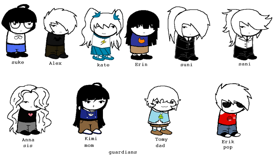 Homestuck clipart human HOMESTUCK humans by on by