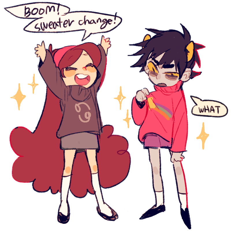 Sweater Homestuck and TWO LARGE