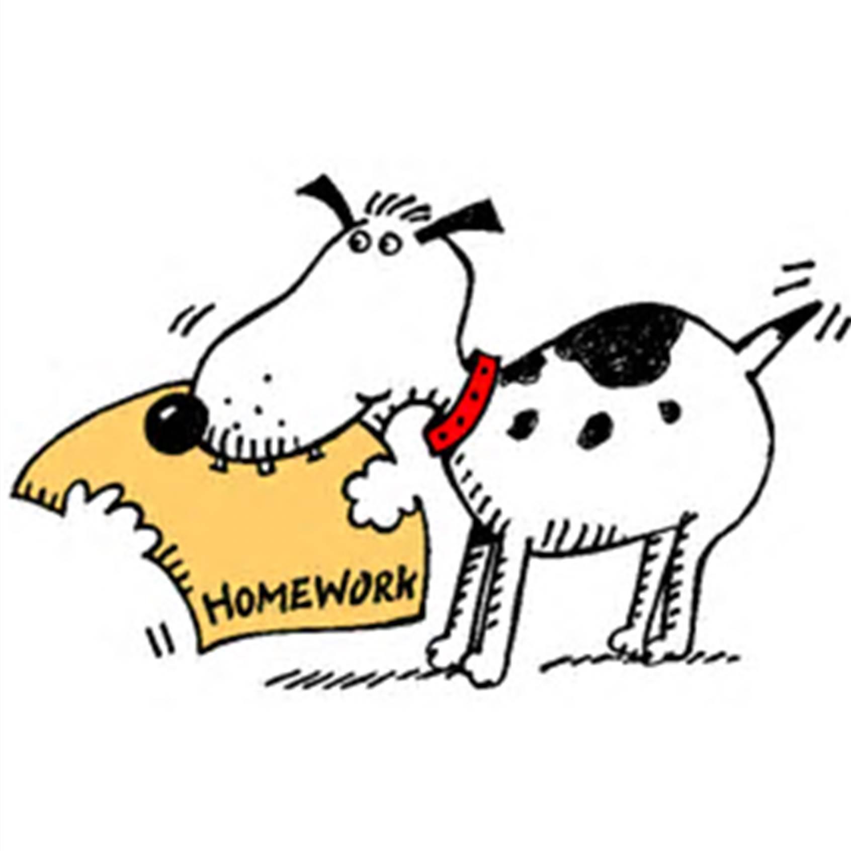 Homework clipart Eu Dog art of homework