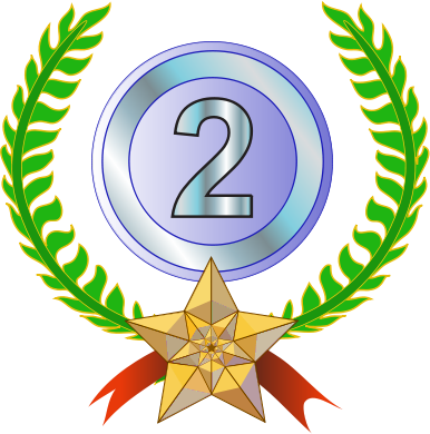 Silver clipart 2nd place medal Awards images and Awards Domain