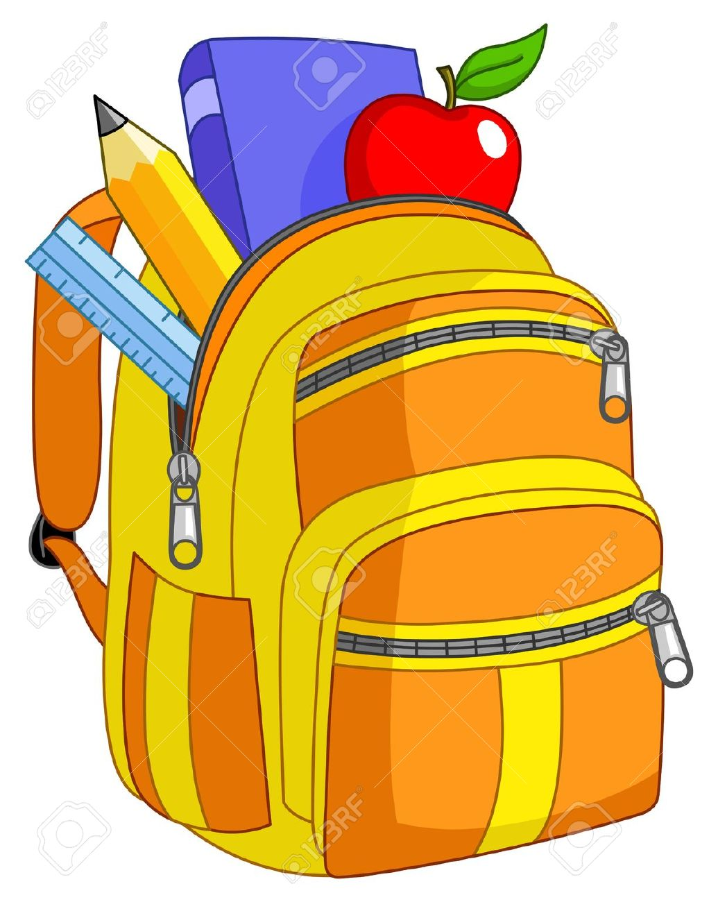 Inside clipart open backpack Backpack School Sketching and 9920738