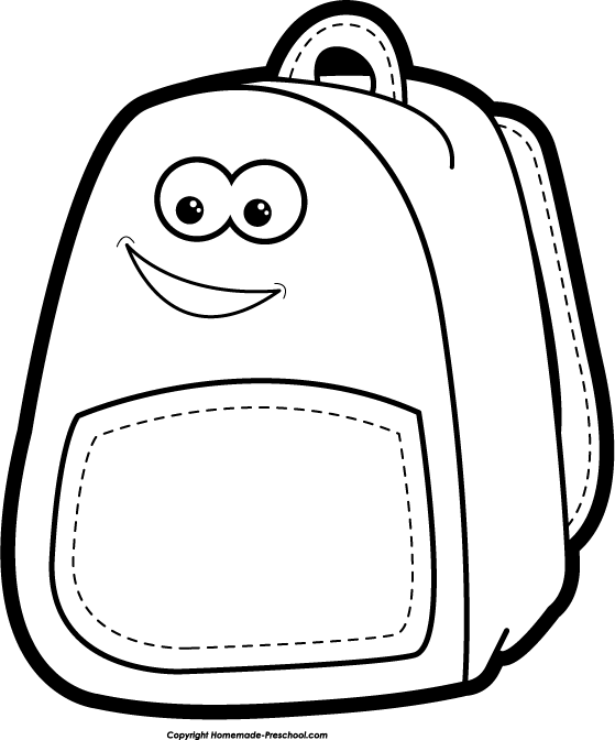 Bag clipart school outline Clipart School black free and
