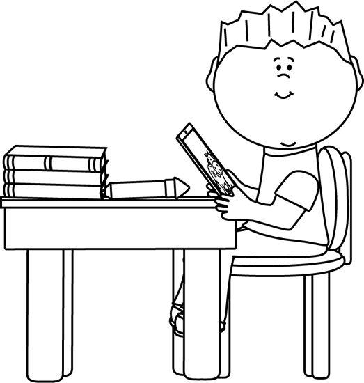Desk clipart independent work  School Homework White Clipart