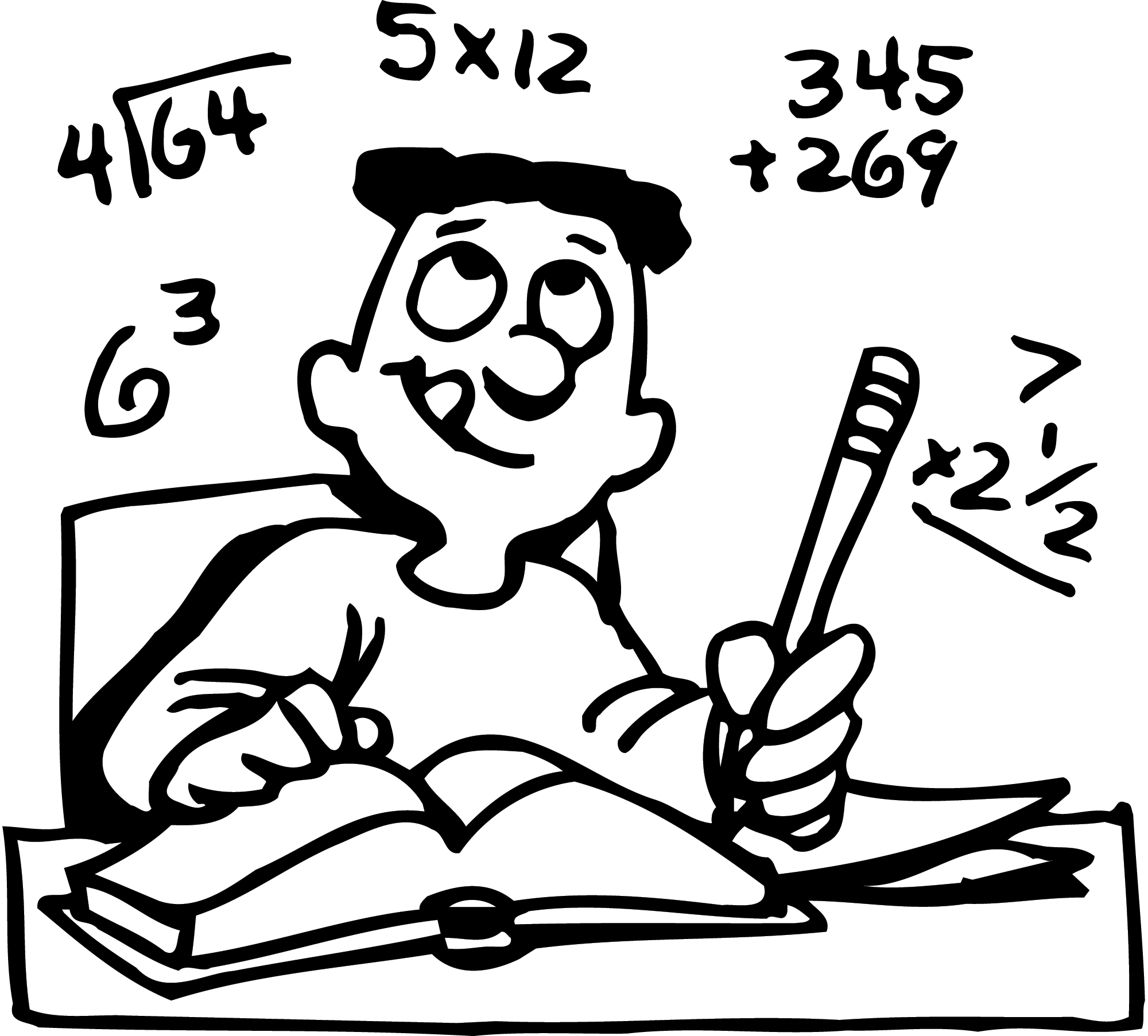 Homework clipart black and white Math black white Math Math