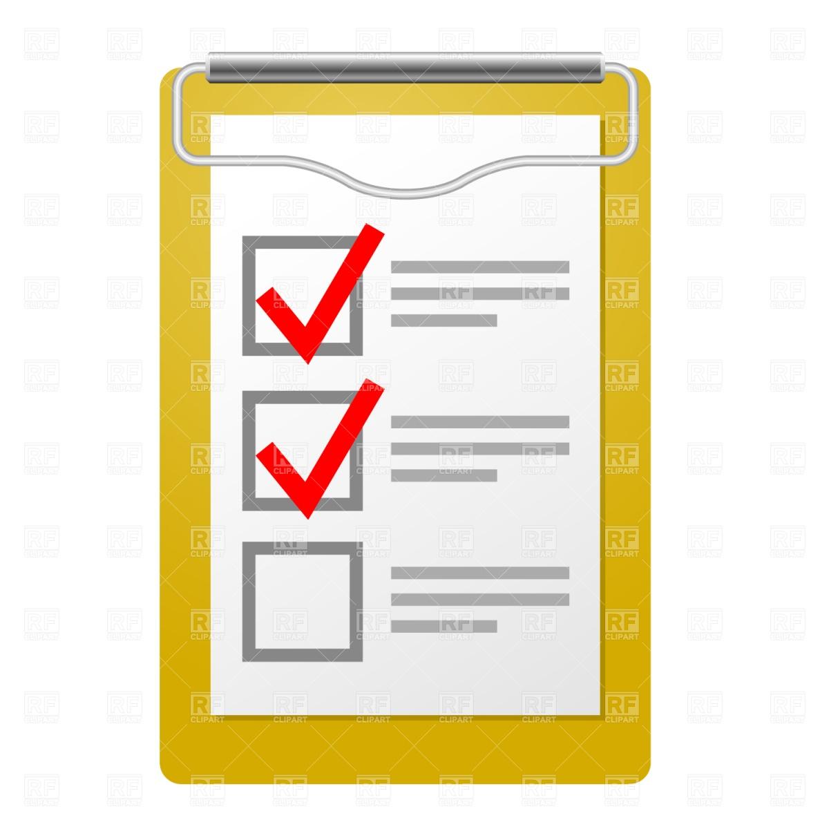 Overview clipart checklist Clipart Free Clipart Checklist Clipart