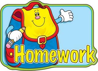 Homework clipart class schedule School Tuesday sent and Elementary