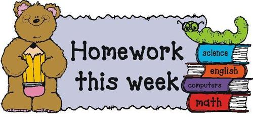 Homework clipart class schedule / Homework Third Homework Schedule
