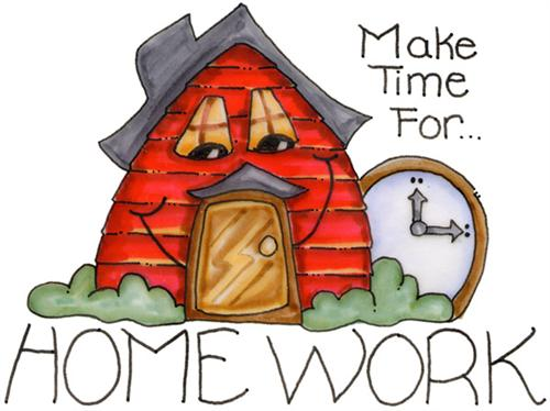 Homework clipart class schedule Homework/Test Cervantes Schedule *Mrs Class*