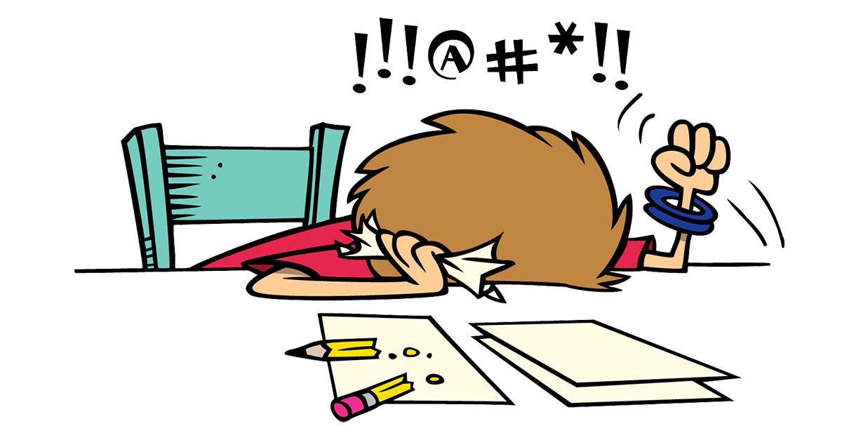 Homework clipart difficult #7
