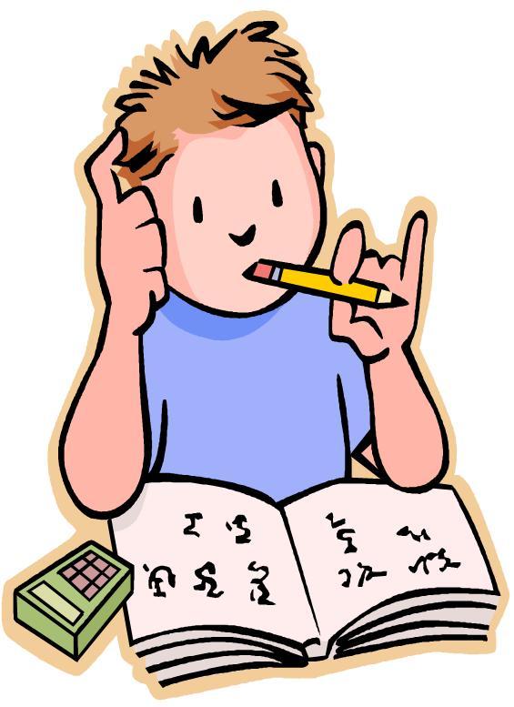 Homework clipart difficult #4
