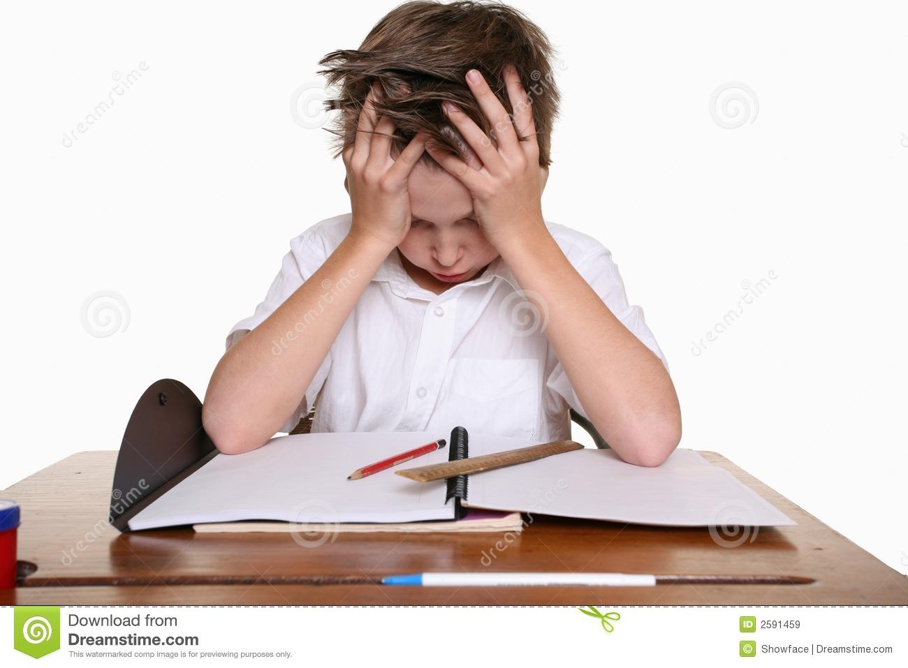 Homework clipart difficult #8