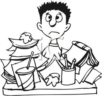 Homework clipart difficult #5