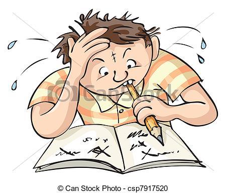 Homework clipart difficult #1