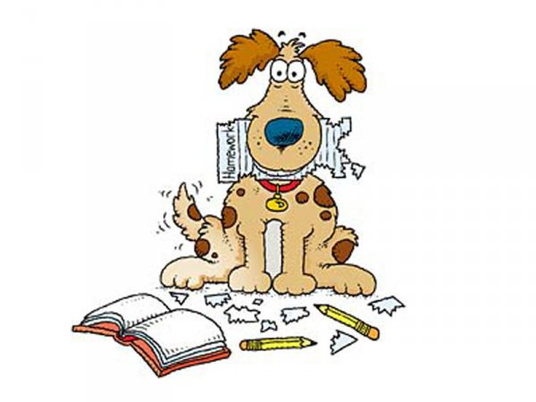 Homework clipart dog ate My WikiClipArt clipart dog ate