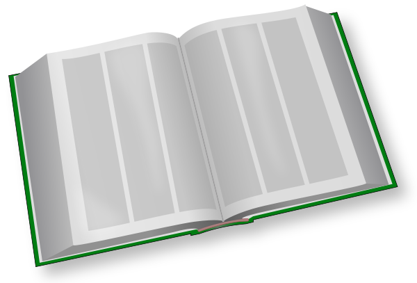 Book clipart open text Encyclopedia Clipart Public art Domain
