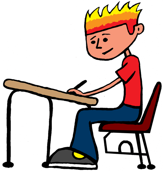Desk clipart independent work Working Student student clipart Clipartion