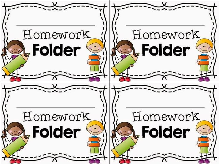 Library clipart homework folder Folder ideas FREEBIE on labels
