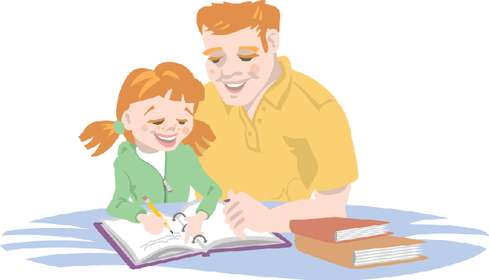 Homework clipart homework help Helping Arts His Daughter With