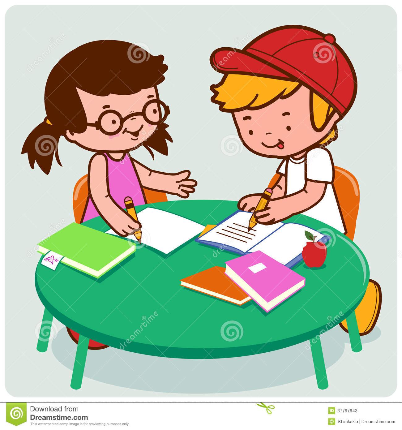 Homework clipart homework help Friends Doing Clipart Friends Homework