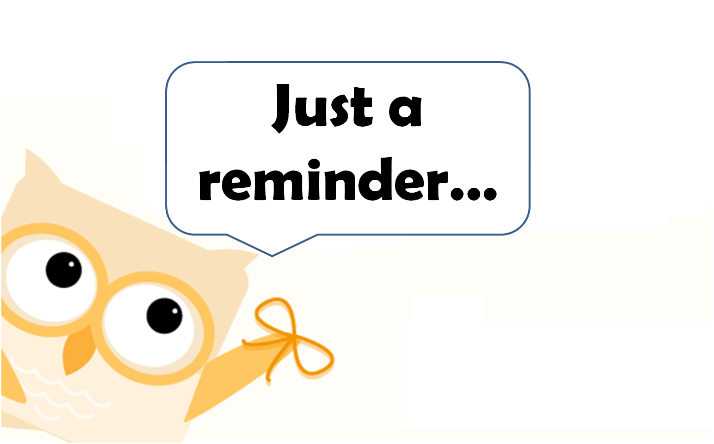 Meeting clipart meeting reminder Clipartfest friendly clipart Just reminder